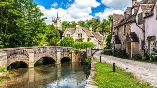 THIS IS THE VIEW OF OLD VILLAGE IN ENGLAND